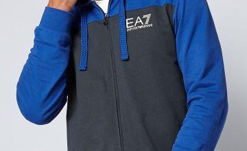 EA7 Colour Block Zip Through Top
