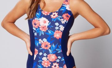 Wild Floral Panel Control Swimsuit