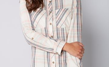 Long Sleeve Pink Check Shirt