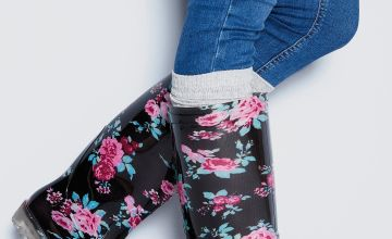 Tall Floral Print Wellington Boots