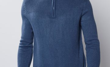 Pierre Cardin ¼ Zip Ribbed Neck Knitted Jumper