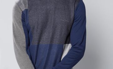 Pierre Cardin Colour Block Crew Neck Knit