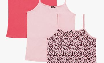 Older Girls Pack of 3 Cami Vest Tops