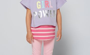 Younger Girls 2 in 1 Dance Squad Top Set