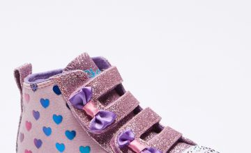 Infant Girls Skechers Lite Shuffle Fancy Flutter Hi Top Trainers