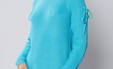 Lace Up Shoulder Jumper