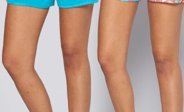 Pack of 2 Blue + Tropical Pink Jersey Shorts