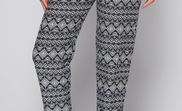 Printed Woven Aztec Print Trousers