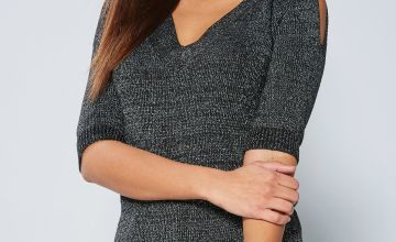 Cross Back Cold Shoulder Jumper