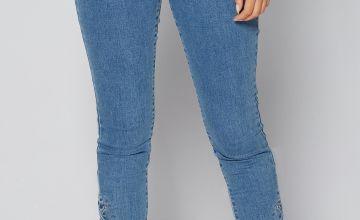 Eyelet Detail Jeans