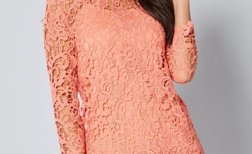¾ Sleeve Lace Crochet Top