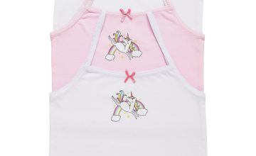 Girls Pack of 3 Unicorn Cami Vest Tops