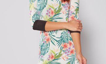 Tropical Printed Tunic Dress