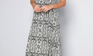 Embellished Yoke Maxi Dress