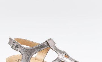Comfort Buckle T-Bar Sandals