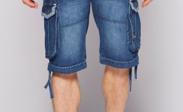 Crosshatch Newberg Denim Cargo Shorts
