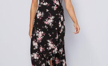 Apricot Wrap Maxi Dress