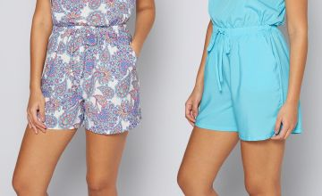 Pack of 2 Blue + Paisley Print Bandeau Playsuits