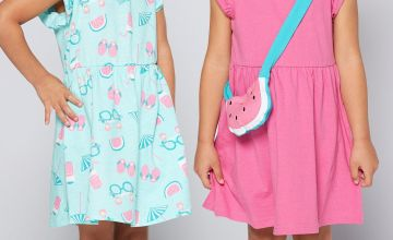 Younger Girls Pack of 2 Watermelon Dresses with Bag