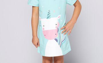 Younger Girls Mermaid Unicorn Shift Dress