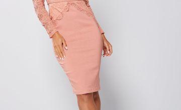 Rare London Lace Midi Dress