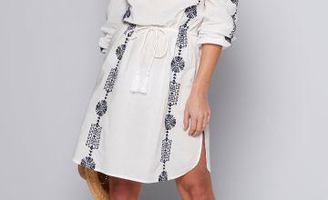 Bardot Long Sleeve Dress