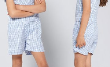 Girls Pack of 2 Blue Gingham Playsuits