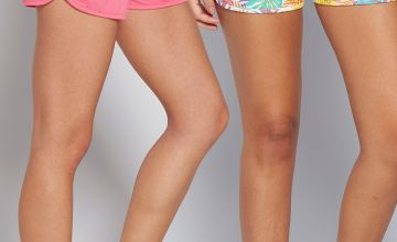 Pack of 2 Pink + Palm Print Jersey Shorts