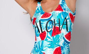 Watermelon Burst Scoop Swimsuit