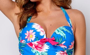 Floral Frenzy Cupped Tankini Top