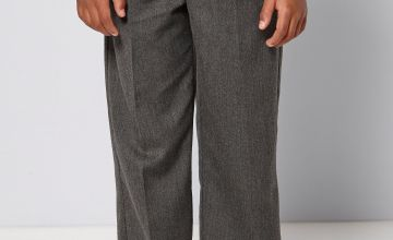 Boys Pack of 2 Adjustable Waist Grey Trousers