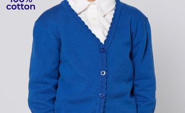Girls Knitted Scallop Edge Cardigan