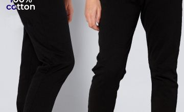 Unisex Pack of 2 Black Joggers