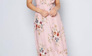 Dip Back Floral Hem Dress