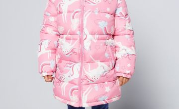 Younger Girls Quilted Unicorn Jacket