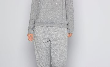 Faux-Pearl Embroidered Long Sleeve Tracksuit
