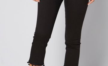 Tassel Hem Cropped Jeans