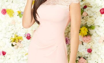 Jessica Wright Blush Lace Panel Dress