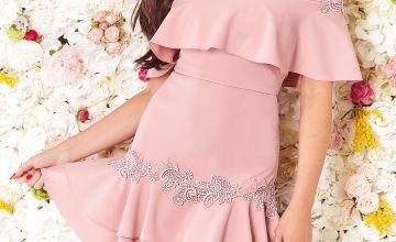 Jessica Wright Bardot Frill Dress