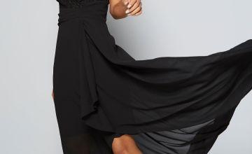 TFNC Lace Hi Lo Maxi Dress