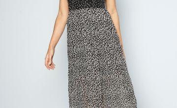 Polka Dot Midi Dress with Fascinator