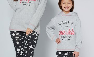 Girls Slogan Mini Me Lounge Wear