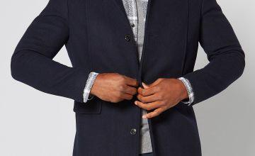 Selected Homme Navy Wool Coat