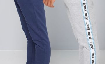 Younger Boys Pack of 2 Legend Tape Joggers