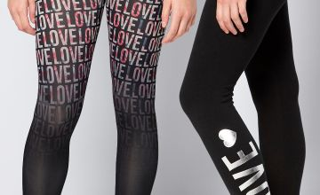 Older Girls Pack of 2 Love Leggings