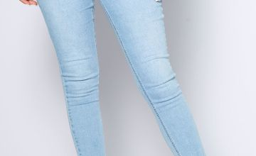 Faux Pearl Scatter Detail Jeans