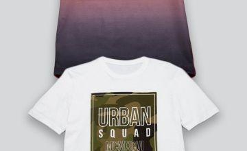 Older Boys Pack of 2 Urban Squad T-Shirts