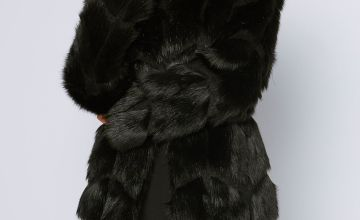 Razor Cut Faux Fur Coat