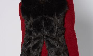 Razor Cut Faux Fur Gilet