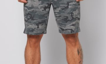 Twisted Gorilla All Over Camo Print Sweat Shorts